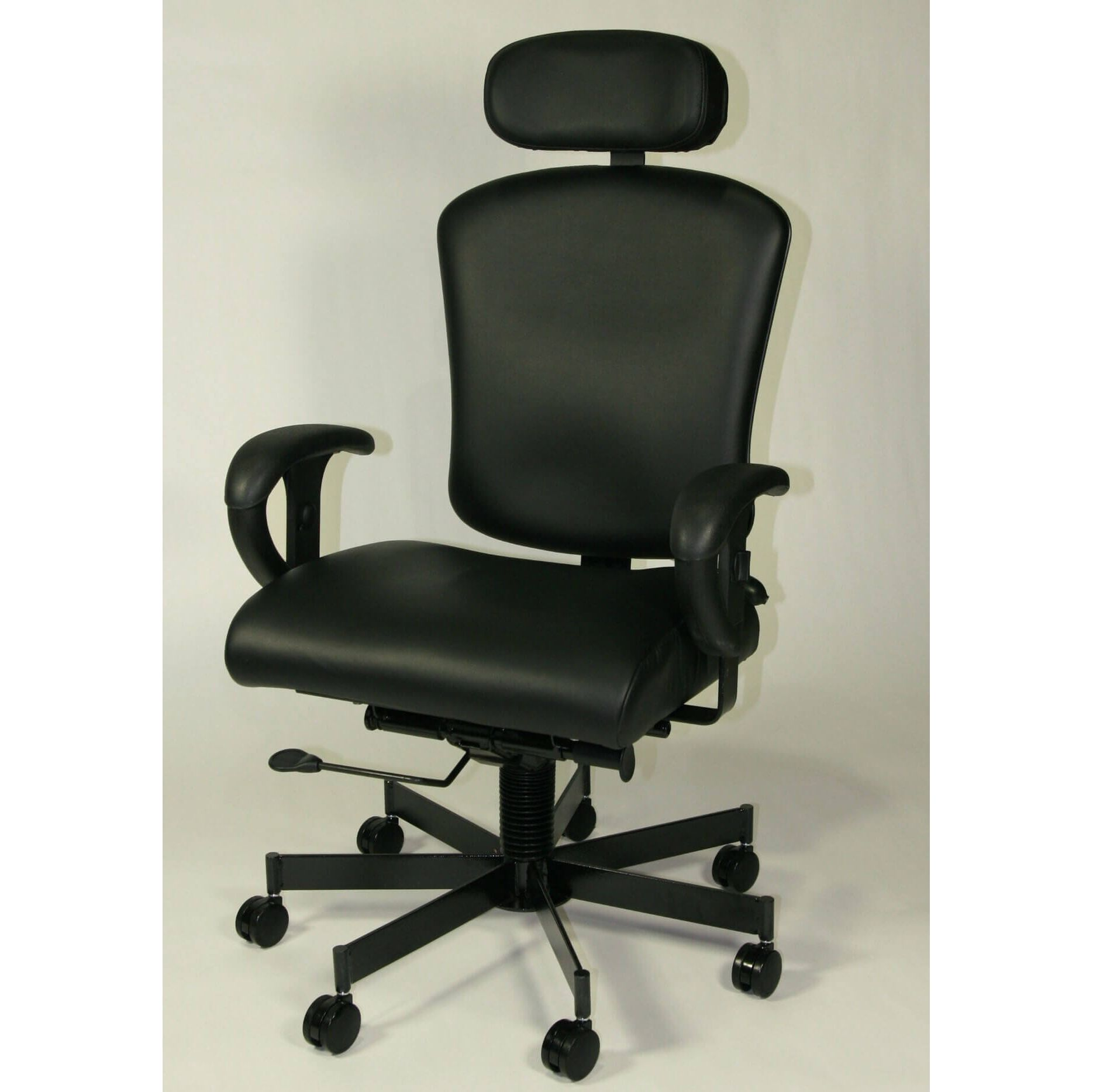 high back leather chairs. 3150HR-EXEC - 24/7 Intensive Use Adjustable High Back Leather Chair Chairs