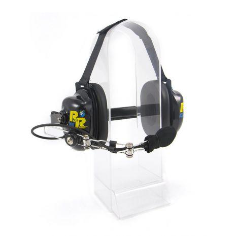 RRH084BLK Racing Radios Dual Muff Headset (black)