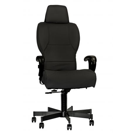 3142-EXEC - 24/7 Intensive Use Leather High Back Chair